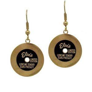 Elvis Presley Gold Tone Earrings